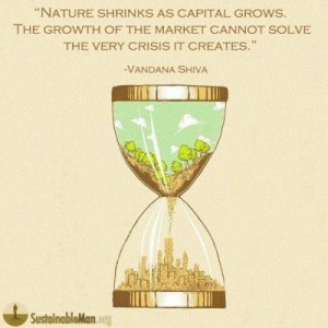 nature shrinks as capital grows